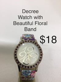 Decree Watch with Beautiful Floral Band