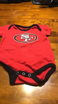 baby's red and black onesie Citrus Heights, 95610