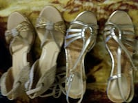 women's two pairs of brown and silver pumps New York, 10026