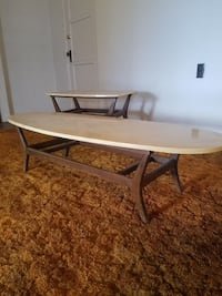 Mid century marble top tables