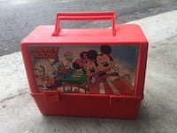 RARE Vintage 80's Canadian Thermos Disney Lunch Box with thermos cup inside. Mickey Mouse, Minnie Mouse Centre Wellington, N0B