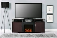 Ameriwood Home Carson Electric Fireplace TV Consol Boston