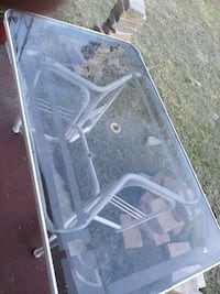 gray metal frame glass top table Haines City, 33844