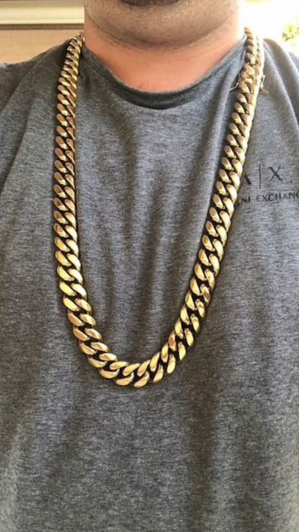 Cuban Link Chain For Sale >> 14k Gold Men S 18mm Miami Cuban Link Chain Never Fades