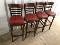 Commercial grade barstools from Barleycorn's bar and grill.
