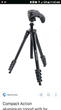 MANFROTTO MKC3-H01 FOLDING PHOTO- MOVIE TRIPOD  Barrie, L4N