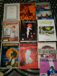 Vintage sheet music collection Bakersfield, 93305