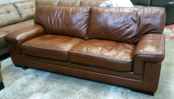 Myars 91in Italian leather sofa