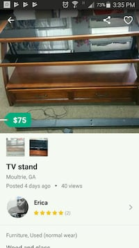 brown wooden TV stand screenshot Moultrie, 31768