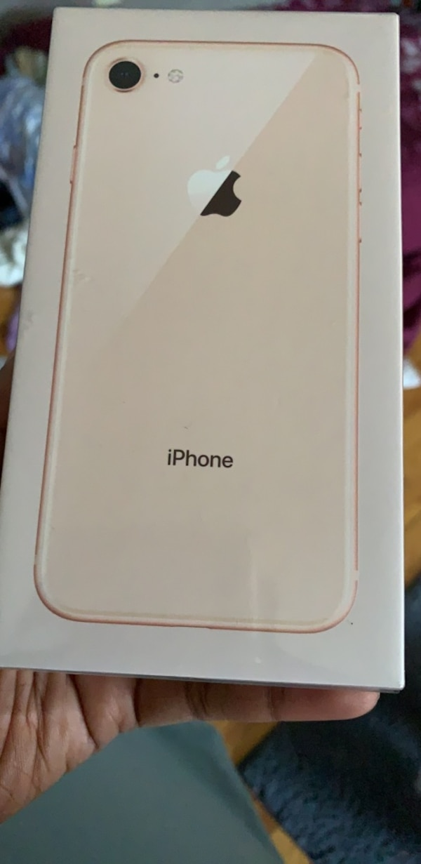 White iPhone 8 box included