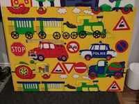 Large fabric prints with wood frame for kids Vaughan, L4J 9A2