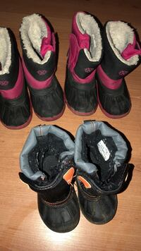 child's three pairs of duck boots Windsor, N9A