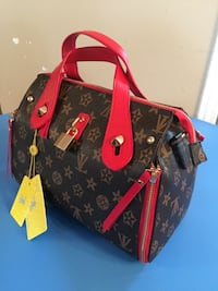 black and red Louis Vuitton leather tote bag Terrebonne, J6Y 2A8