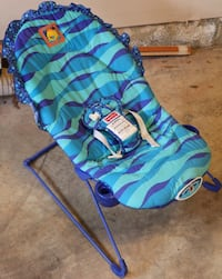 blue fabric bouncer BOWIE