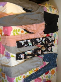 Black, white, and pink floral pants Calgary, T2K 4H1