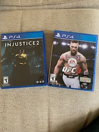 Injustice 2 and UFC 3 for PS4. Would trade for Fallout 76, Resident Evil 2, The Division 2, or Dragonball Fighterz  Fredericksburg, 22408