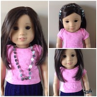 3 in 1 American girl doll beaded accessory  550 km