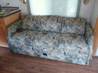 blue and white floral fabric 3-seat sofa Roanoke
