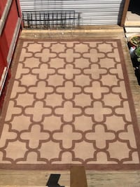 Huge Brown And Beige Area Rug - 90 x 120  Chicago, 60622