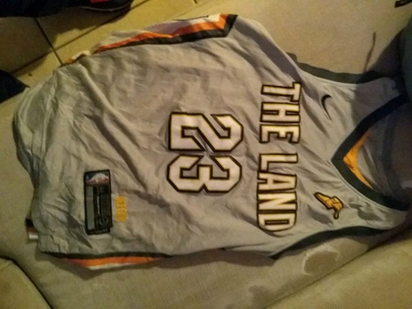 check out 4e34b fd556 Used gray and black New York Giants jersey shirt for sale in ...
