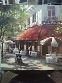 Cafe Berlotti Paris artwork 2 ft square Chantilly, 20152