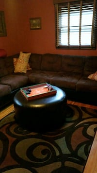 black and blue leather sofa chair 916 mi