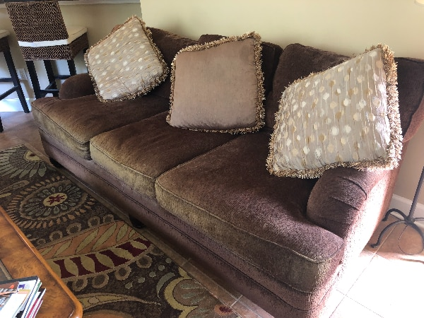 Havertys Brown deep set couch/love seat
