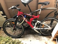 red and black full suspension mountain bike San Diego, 92111