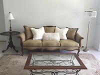 Brown & Floral Traditional Sofa & Chair living room set Davie, 33324