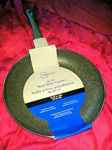 green MainStays Non-Stick Frying Pan