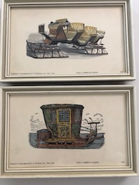 Vintage Sleigh Ride Framed Prints Published by E.S. Herman Omaha, 68132