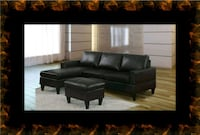 Black sectional with ottoman Ashburn, 20147