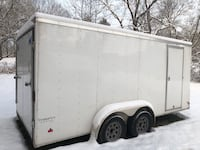 Enclosed Trailer 7'x16' White - V-Nose Lawn Mower Cargo Trailer Hagerstown, 21742
