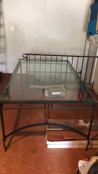 Cast Iron/Glass Table