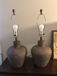 Two gray-and-brown table lamps North Chesterfield, 23235