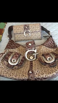 Guess matching purse and wallet