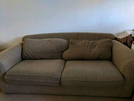 Sofa with black cover
