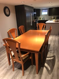 maple wood kitchen/dining table 6-10 chairs Toronto, M3L