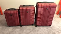 3 red and black luggage bags Vaughan, L4H