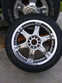 """4 17"""" rims and tires"""