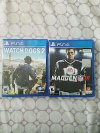 Watch Dogs 2 & Madden NFL 18 PS4 Baltimore, 21224
