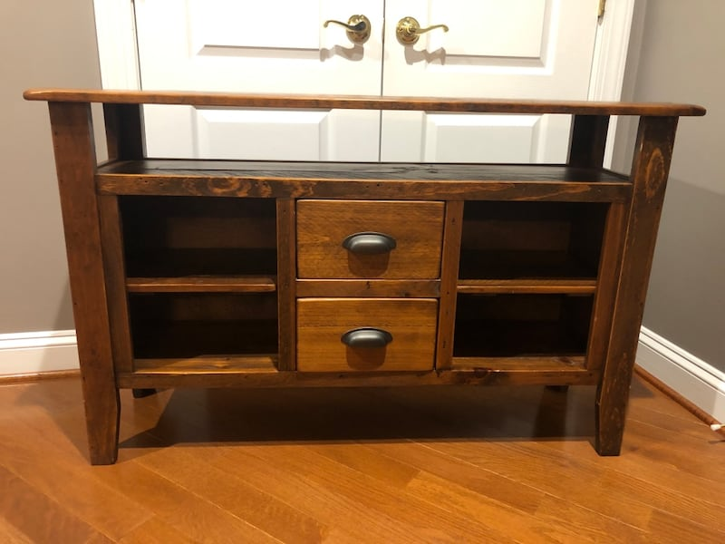 Solid Wood Media Console 0