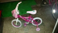 toddler's pink and white bicycle with training wheels Carle Place, 11514