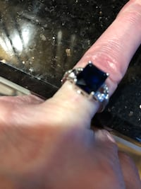 Princess Cut Blue CZ Ring Framingham, 01701