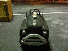 Antique black and gray ride-on toy car