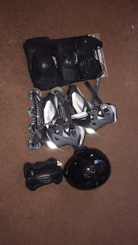 Roller blade set. Helmet, knee pads, wrist guards included. Used once or twice. Ottawa, K2J