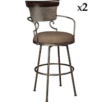Set of 2 SIGNATURE DESIGN BY ASHLEY FURNITURE-MORIANN COUNTER HEIGHT BAR STOOL-CASUAL STYLE-MULTI