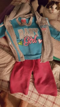 toddler's pink and blue onesie