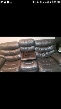 Brown Faux Leather Reclining Couch 3126 km