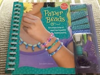 Paper beads kids art set with book Port Coquitlam